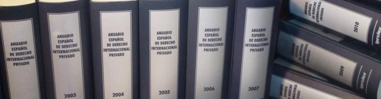 Resultado de imagen de anuario español de derecho internacional privado